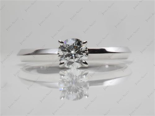 White Gold 0.38 Round cut Round Solitaire Ring