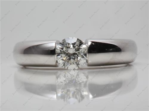 White Gold 0.86 Round cut Tension Diamond Engagement ring
