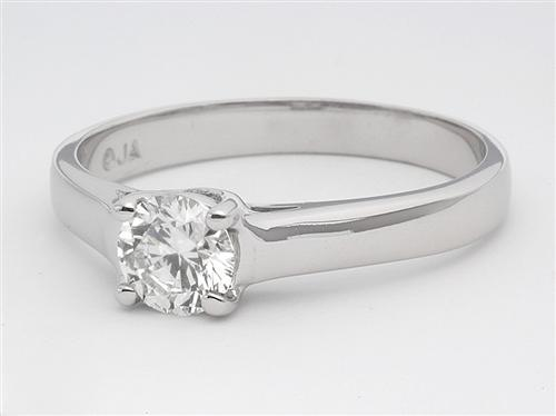 White Gold 0.65 Round cut Diamond Rings