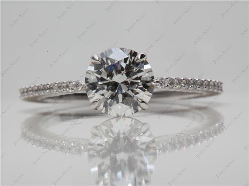 White Gold  Micropave Rings