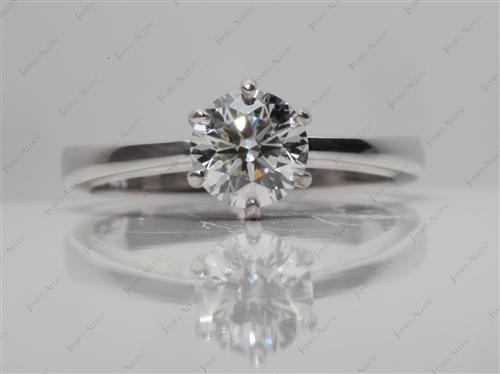White Gold 0.80 Round cut Diamond Rings