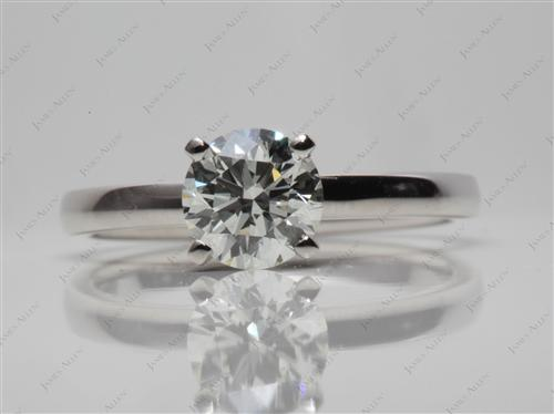 Platinum 1.00 Round cut Diamond Rings