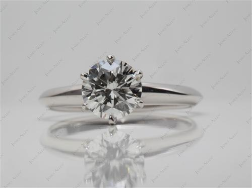 Platinum 1.06 Round cut Engagement Rings
