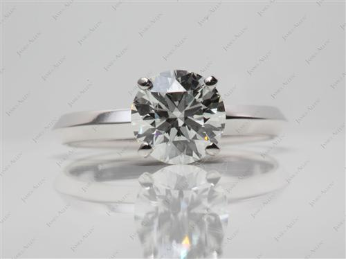 White Gold 1.60 Round cut Solitaire Rings