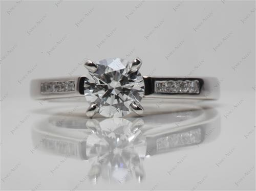 Platinum 0.80 Round cut Channel Set Diamond Band