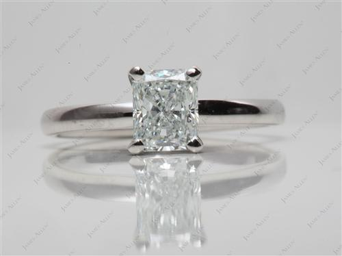 Platinum 1.05 Radiant cut Solitaire Ring