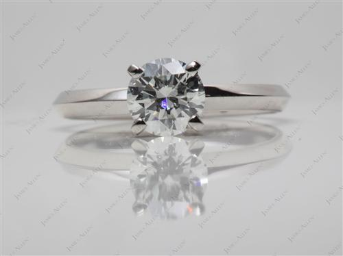 Platinum 0.72 Round cut Solitaire Engagement Rings