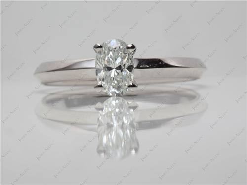 Platinum 0.70 Oval cut Solitaire