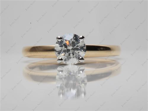Gold 0.73 Round cut Solitaire Ring Designs