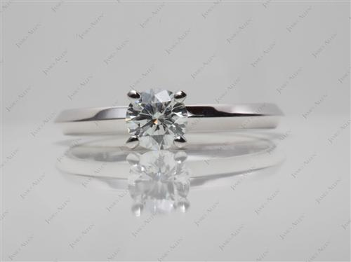 White Gold 0.43 Round cut Diamond Solitaire Engagement Ring