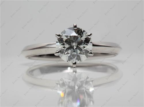 Platinum 1.01 Round cut Solitaire Diamond Ring