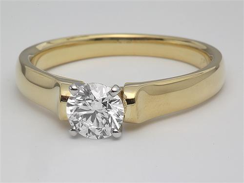 Gold 0.91 Round cut Solitaire Ring Settings