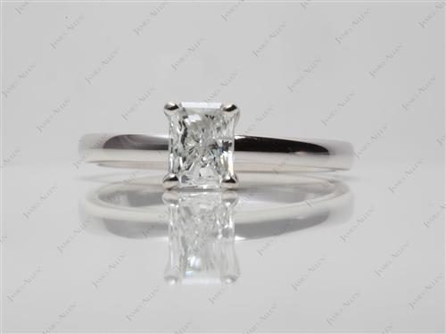 White Gold 0.56 Radiant cut Solitaire