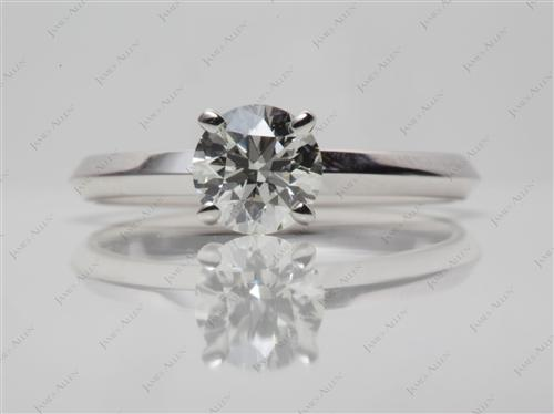White Gold 0.71 Round cut Diamond Solitaire Engagement Ring