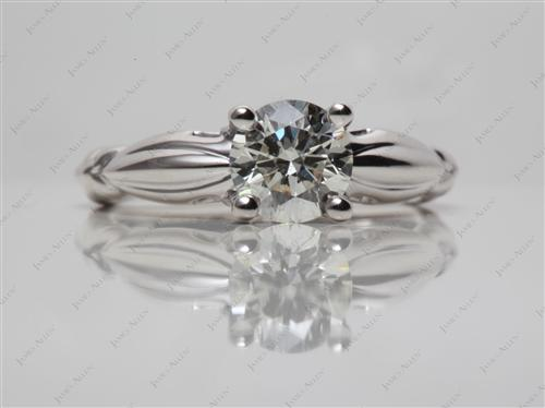 White Gold 0.90 Round cut Solitaire Rings