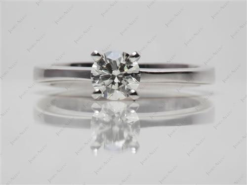 White Gold 0.49 Round cut Solitaire Diamond Ring