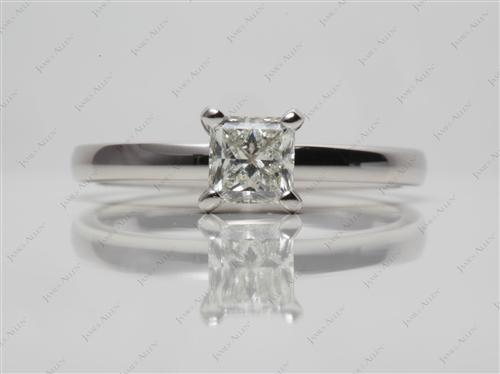 Platinum 0.53 Princess cut Solitaire Ring