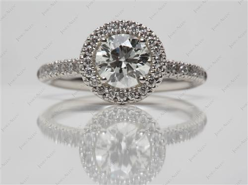 Platinum 0.78 Round cut Pave Rings