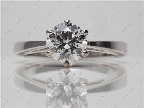 White Gold 1.25 Round cut Solitaire Ring