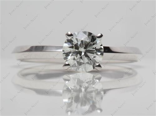 White Gold 0.65 Round cut Solitaire Ring Setting