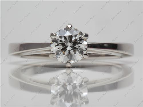 Platinum  Solitaire Engagement Rings