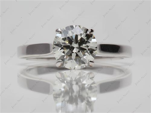 White Gold 1.25 Round cut Solitaire Diamond Rings