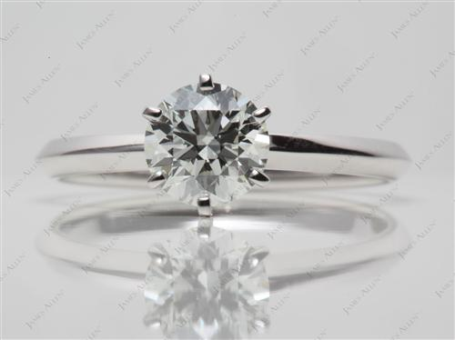 White Gold 1.01 Round cut Solitaire Ring