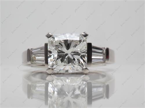 Platinum 2.41 Cushion cut Diamond Ring