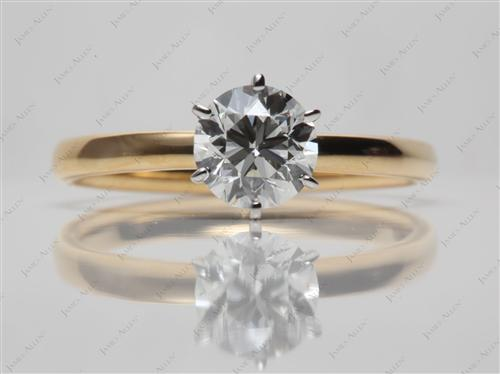 Gold 1.01 Round cut Solitaire Ring Settings
