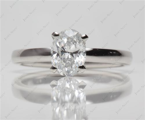 Platinum 0.91 Oval cut Solitaire Ring Settings