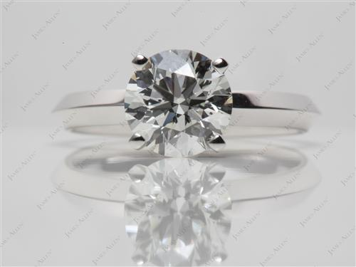White Gold 1.61 Round cut Diamond Engagement Solitaire Rings