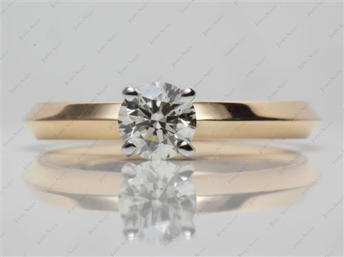 Gold 0.55 Round cut Solitaire Ring Settings