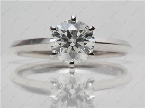 Platinum 1.31 Round cut Diamond Solitaire Rings