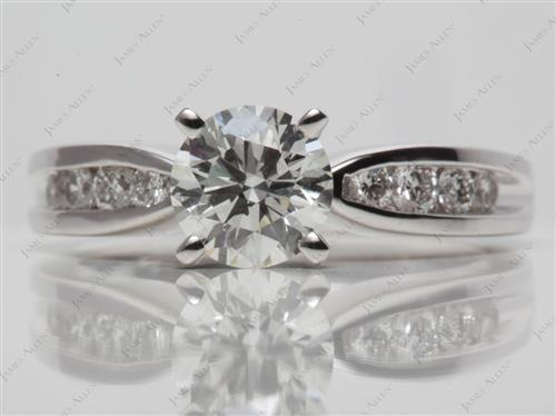 White Gold 1.03 Round cut Channel Set Diamond Ring