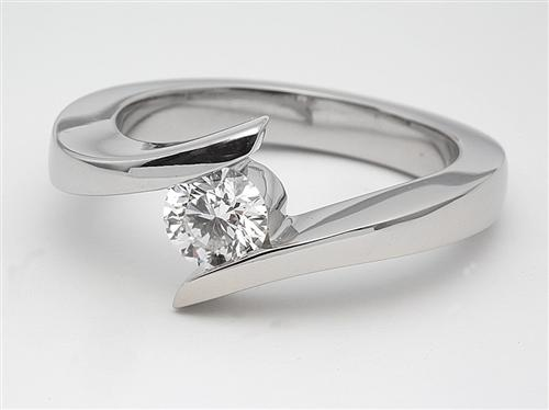Platinum 0.50 Round cut Diamond Ring