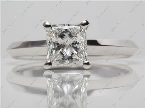 White Gold 1.51 Princess cut Round Solitaire Ring