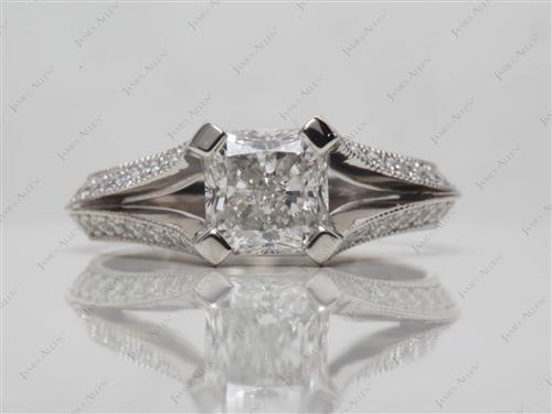 Platinum  Micro Pave Rings