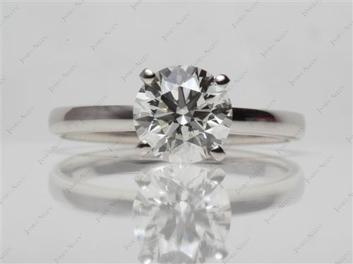 Platinum 1.71 Round cut Solitaire Ring Mountings