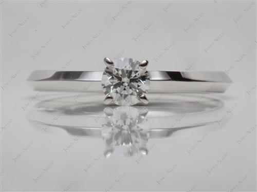 White Gold 0.70 Round cut Solitaire Ring