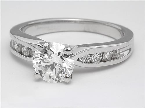White Gold 1.22 Round cut Engagement Rings