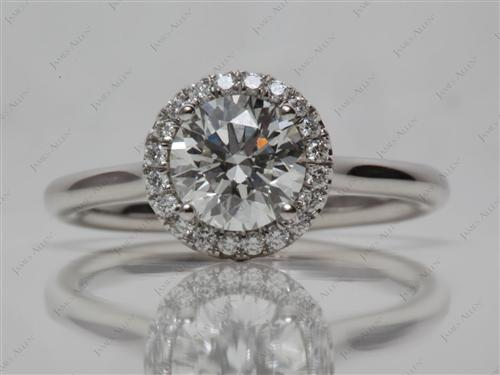 Platinum  Pave Ring Setting