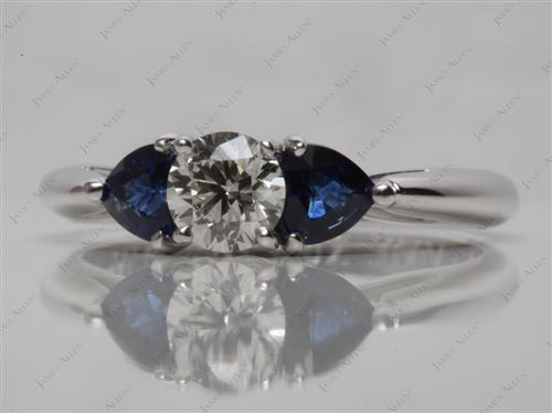 White Gold  Colored Gemstone Rings