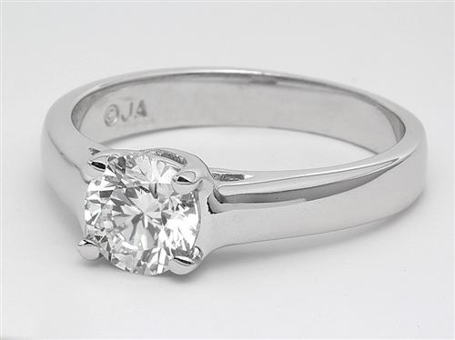 Platinum 0.76 Round cut Solitaire