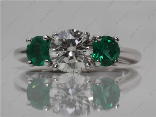 White Gold  Emerald Cut Ring