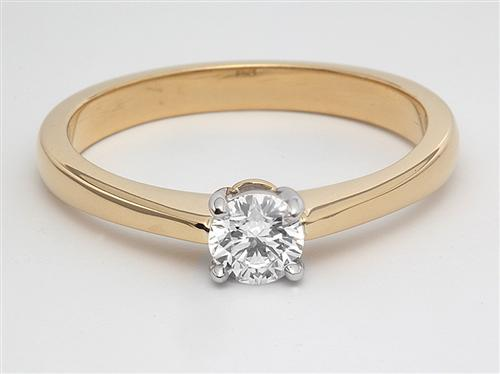 Gold 0.32 Round cut Solitaire Ring Settings