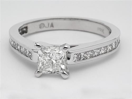 White Gold 0.76 Princess cut Diamond Ring