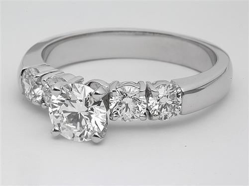 White Gold 0.70 Round cut Bridal Wedding Ring Sets