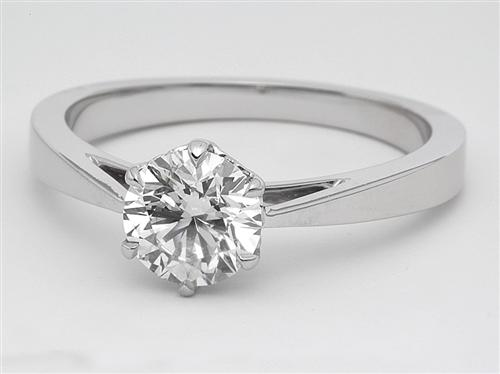 White Gold 0.83 Round cut Diamond Rings