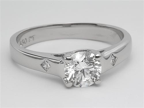 White Gold 0.74 Round cut Solitaire Diamond Ring