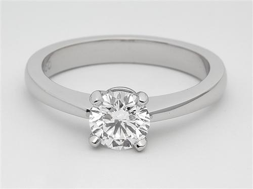 Platinum 0.76 Round cut Engagement Ring